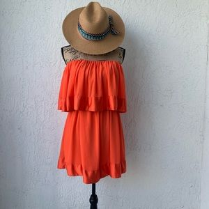 Vibrant orange dress 👗‼️‼️😍